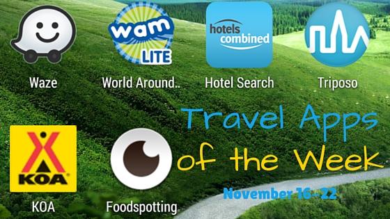 Nov 16-22 | Travel Apps of the Week