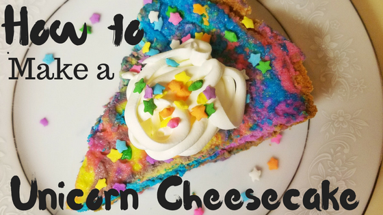 How to Make a Unicorn Cheesecake